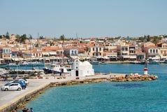 Het eiland van Aegina in Griekenland Stock Foto