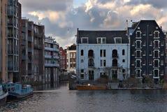 Het eiland van Amsterdam Stock Afbeeldingen