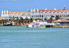 Het eiland van Aruba, Caraïbische overzees Stock Afbeelding