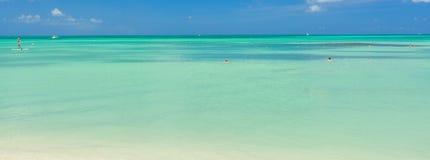 Het eiland van Aruba Mening van het Strand Royalty-vrije Stock Foto's