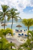 Het eiland van Aruba, tropische achtergrond Stock Fotografie