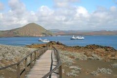Het Eiland van Bartolome, de Galapagos Stock Afbeeldingen