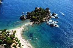 Het eiland van Bella van Isola in Taormina, Sicilië Royalty-vrije Stock Fotografie