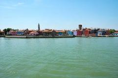 Het Eiland van Burano - Italië stock afbeeldingen