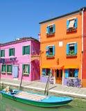Het Eiland van Burano, Lagune van Venetië Stock Foto