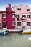 Het eiland van Burano - Venetië royalty-vrije stock afbeelding