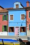 Het eiland van Burano, Venetië, Italië Stock Afbeeldingen