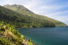 Het eiland van Camiguin Stock Foto's