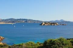 Het eiland van Caprera stock afbeeldingen