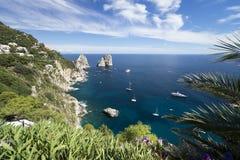 Het eiland van Capri in Italië royalty-vrije stock afbeelding