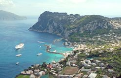 Het eiland van Capri, Italië royalty-vrije stock foto's