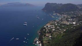 Het Eiland van Capri, Italië stock videobeelden