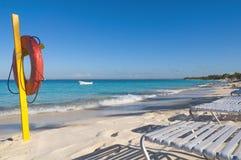 Het eiland van Catalina - Playa DE La isla Catalina - Caraïbische tropische overzees Royalty-vrije Stock Fotografie