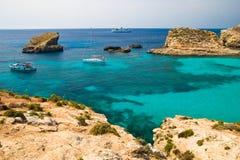 Het eiland van Comino Stock Afbeeldingen