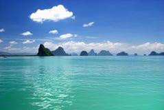 Het eiland van de Baai van Nga van Phang Royalty-vrije Stock Foto