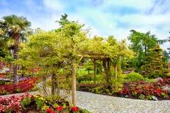 Het eiland van de bloemtuin Stock Foto