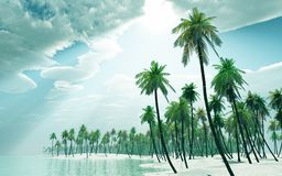 Het eiland van de droom Stock Foto