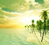 Het eiland van de droom Stock Afbeeldingen