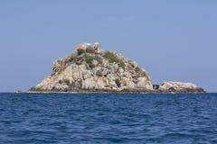 Het eiland van de haai dichtbij Koh Tao in Thailand Royalty-vrije Stock Foto