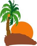 Het Eiland van de kokosnoot royalty-vrije illustratie