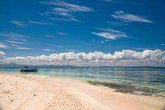 Het Eiland van de lange strandgolf Royalty-vrije Stock Foto's