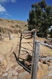 Het eiland van de maan wordt gevestigd op meer Titicaca Royalty-vrije Stock Foto's