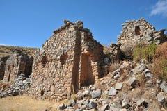 Het eiland van de maan wordt gevestigd op meer Titicaca Stock Foto