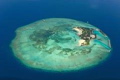 Het eiland van de Maldiven stock fotografie