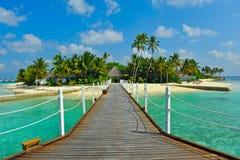 Het eiland van de Maldiven Stock Afbeeldingen