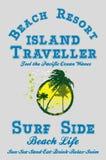 Het eiland van de paradijspalm Stock Afbeeldingen