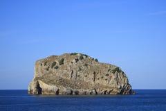 Het eiland van de rots Royalty-vrije Stock Afbeeldingen