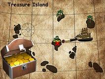 Het eiland van de schat Royalty-vrije Stock Afbeelding