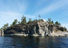 Het eiland van de steen Stock Afbeelding