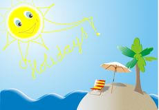 Het eiland van de Vakantie van de zomer Stock Foto