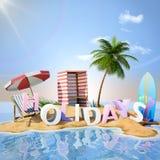 Het eiland van de vakantiewoestijn Royalty-vrije Stock Foto