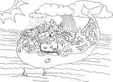 Het eiland van de walvis Stock Afbeelding
