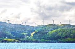 Het eiland van de windenergie Royalty-vrije Stock Afbeeldingen
