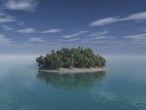 Het eiland van de woestijn Stock Afbeelding