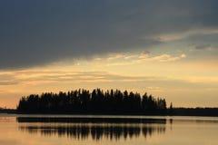 Het Eiland van de zonsondergang Royalty-vrije Stock Foto