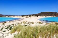 Het eiland van Elafonissos, Griekenland Stock Afbeelding