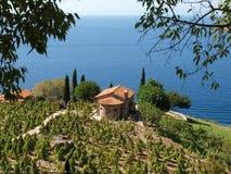 Het eiland van Elba, Capo lo Feno Stock Foto