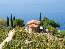 Het eiland van Elba, Capo lo Feno Stock Fotografie