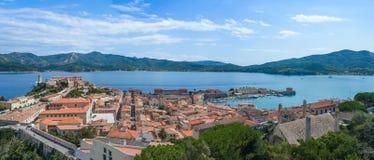 Het eiland van Elba in Italië stock foto's