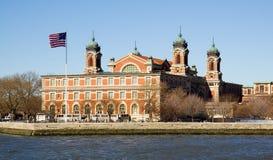 Het Eiland van Ellis, de Stad van New York Stock Afbeelding