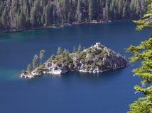 Het Eiland van Fannette in Meer Tahoe stock afbeeldingen