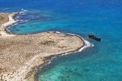 Het eiland van Gramvousa Stock Fotografie