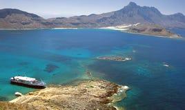 Het eiland van Gramvousa, Kreta, Griekenland Royalty-vrije Stock Foto's