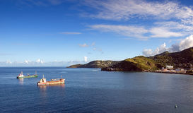 Het eiland van Grenada - de baai van Heilige George ` s stock foto's