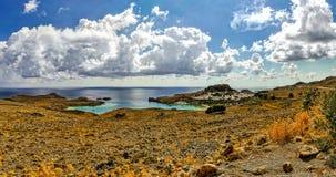 Het eiland van Griekenland, Rhodos Royalty-vrije Stock Afbeeldingen