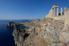 Het eiland van Griekenland, Rhodos Stock Afbeeldingen